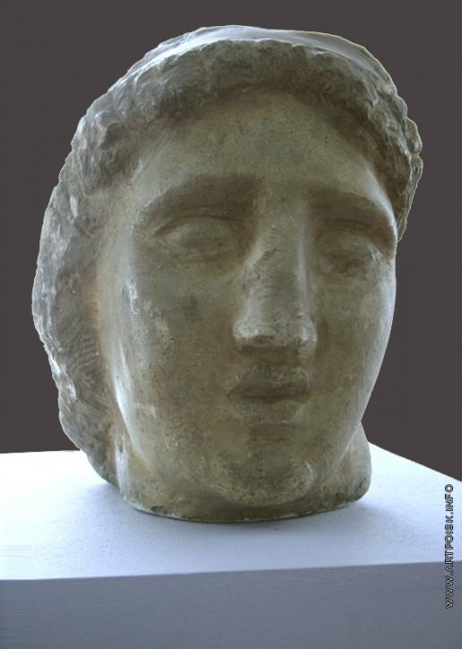 Коненков С. Т. Голова греческой богини