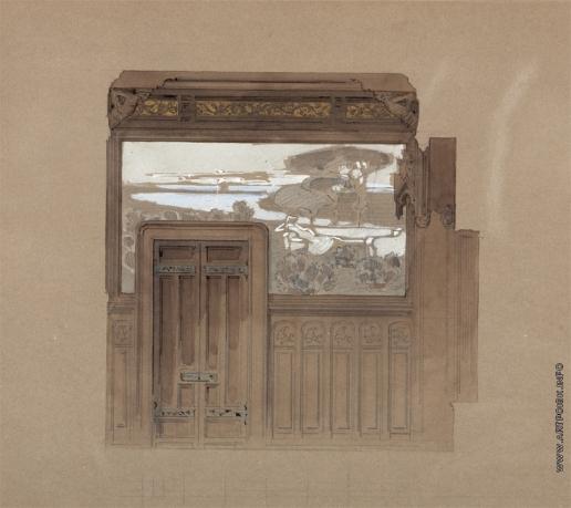 Врубель М. А. Вечер. Эскиз декоративного панно особняка С.Т. Морозова