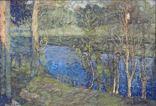 Скалон А. В. Пейзаж с рекой