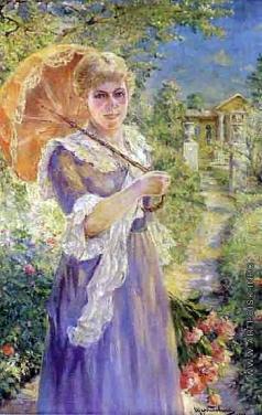 Щербиновский Д. А. Дама с зонтиком от солнца