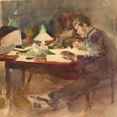 Щербиновский Д. А. За столом