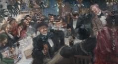 Щербиновский Д. А. Кафе в Париже