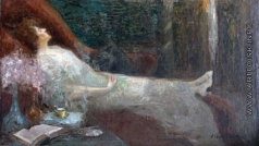 Щербиновский Д. А. Портрет актрисы Парижского театра «Гранд опера» Рене