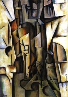 Шапошников Б. В. Кубистическая композиция. Суд божий