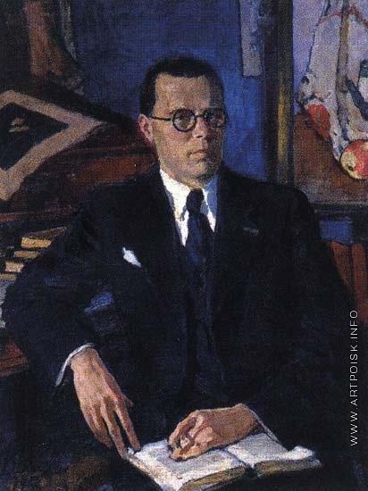 Белкин В. П. Портрет искусствоведа Георгия Ефимовича Лебедева