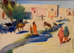 Сарьян М. С. Улица и арык в Ашхабаде