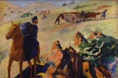Сарьян М. С. Встреча А.С. Пушкина с телом А.С. Грибоедова в горах Армении в 1829 году