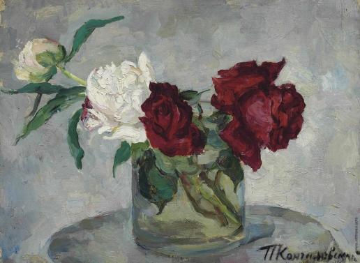 Кончаловский П. П. Розы в вазе