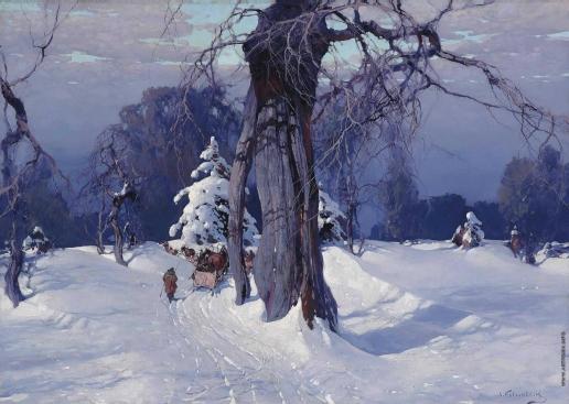 Колесников С. Ф. По заснеженному лесу