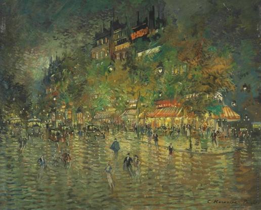 Коровин К. А. Большие бульвары. Париж ночью