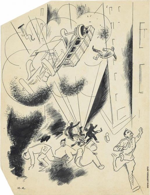 Анненков Ю. П. Иллюстрация к роману Джека Лондона «Железная пята»