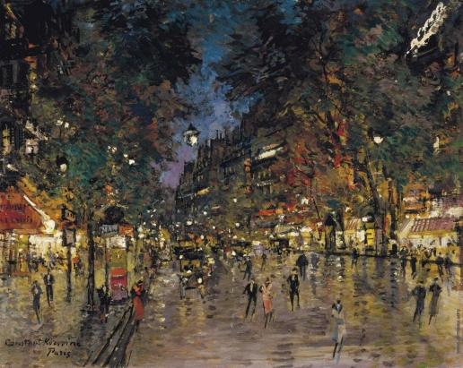 Коровин К. А. Оживленная улица в Париже