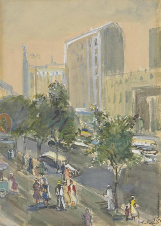 Лабас А. А. Вид из окна. Из серии «Москва»