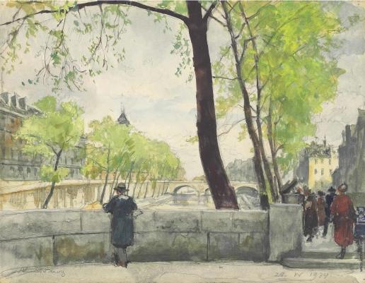 Бенуа А. Н. Весна в Париже