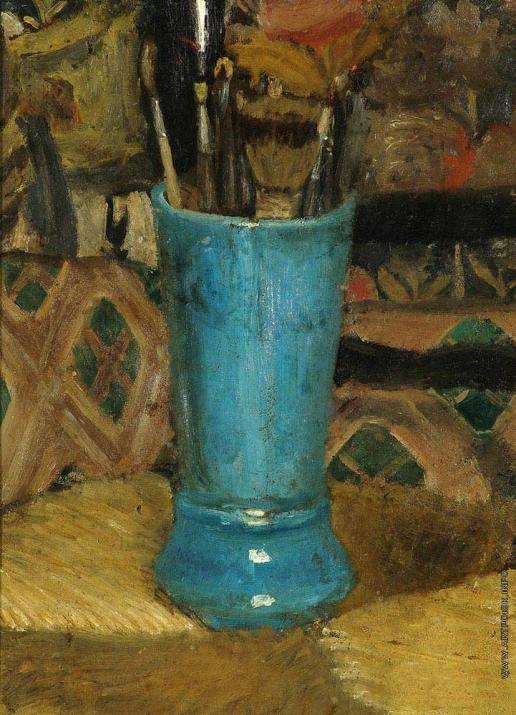Серов В. А. Синяя ваза с кистями