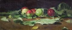 Серов В. А. Яблоки на листьях