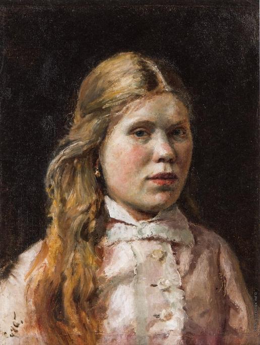 Серов В. А. Крестьянская девушка в розовом