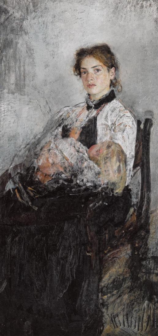 Серов В. А. Портрет Н.Я. фон Дервиз с ребенком