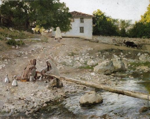 Серов В. А. Татарки у реки