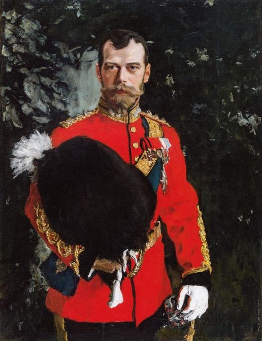 Серов В. А. Император Николай II, полковник Королевского шотландского драгунского полка