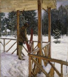 Виноградов С. А. Охотник с лыжами