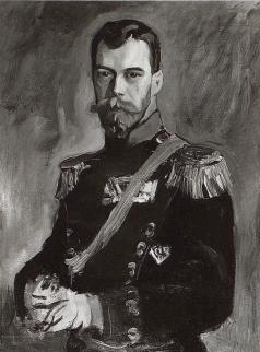 Серов В. А. Портрет императора Николая II в мундире 80-го пехотного генерал-фельдмаршала князя А.И. Барятинского Кабардинского полка