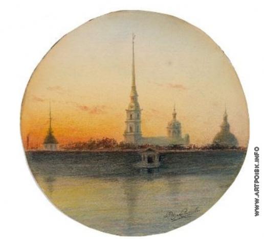 Измайлович В. М. Нева с Петропавловским собором