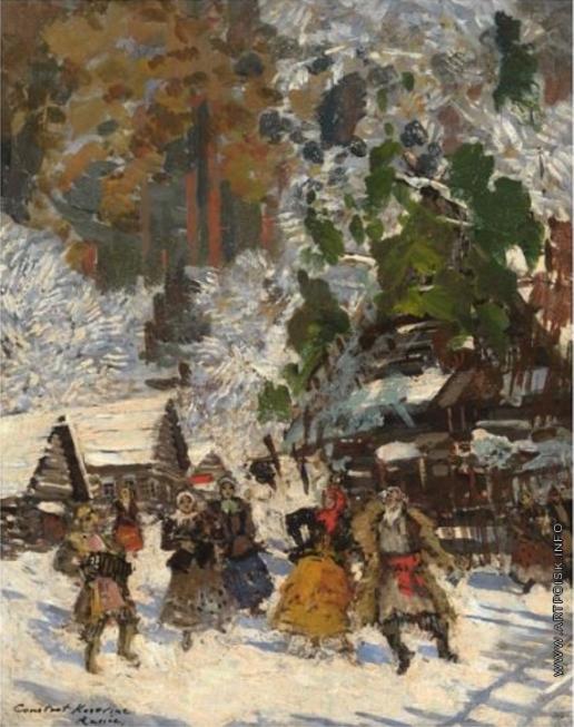 Коровин К. А. Танец на снегу