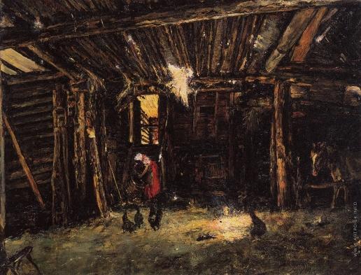 Серов В. А. Крестьянский дворик