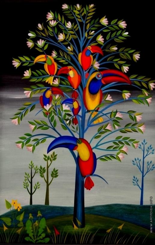 Инсарова-Плисова Н. В. Цикл «Деревья». Туканы прилетели