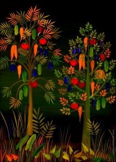 Инсарова-Плисова Н. В. Цикл «Деревья». Два дерева