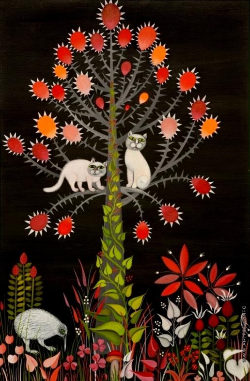 Инсарова-Плисова Н. В. Цикл «Деревья». Коты и дерево