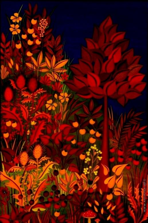 Инсарова-Плисова Н. В. Цикл «Деревья». Красное дерево