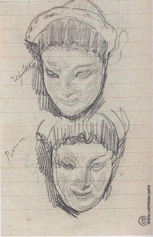 Серов В. А. Голова коры