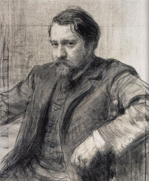 Репин И. Е. Портрет В.А. Серова