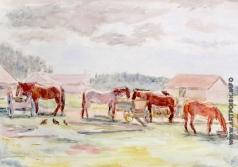 Эйгес О. В. Лошади на конном дворе