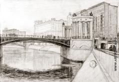 Эйгес О. В. Набережная у Бородинского моста