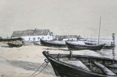 Эйгес О. В. Лодки на берегу