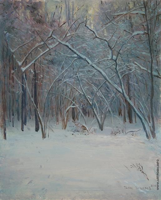 Бочаров Т. С. Зимний лес. Пасмурно