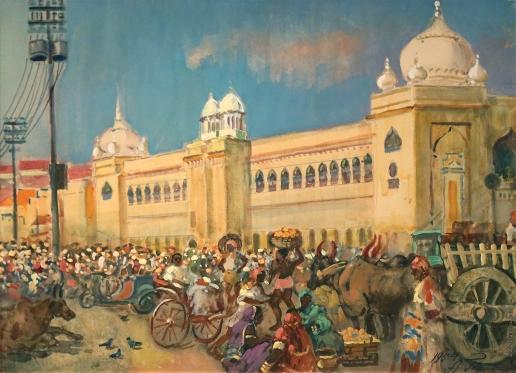 Герасимов А. М. Рынок в Бангалоре