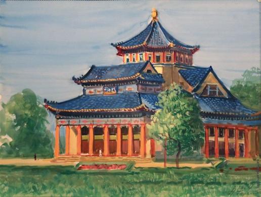 Герасимов А. М. Китай. Мемориальный зал Сунь Ят Сена