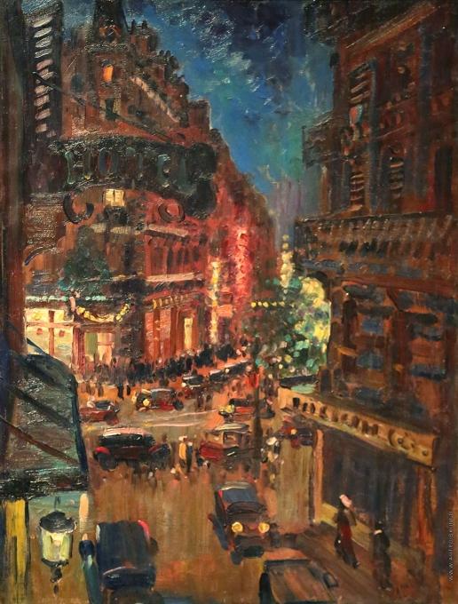 Герасимов А. М. Париж ночью