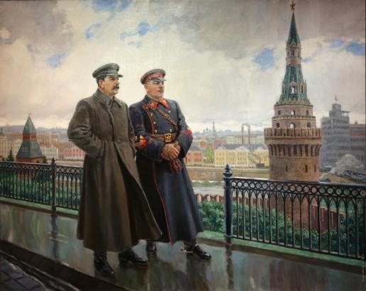 Герасимов А. М. И.В. Сталин и К.Е. Ворошилов в Кремле