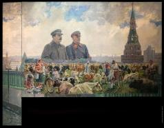 Герасимов А. М. Колхозное стадо (И.В. Сталин и К.Е. Ворошилов в Кремле