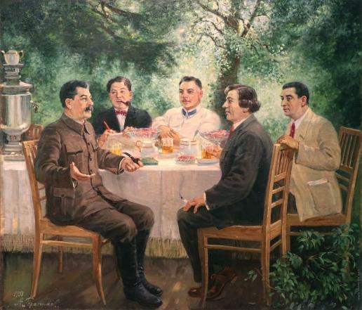 Герасимов А. М. Художники на даче у Сталина
