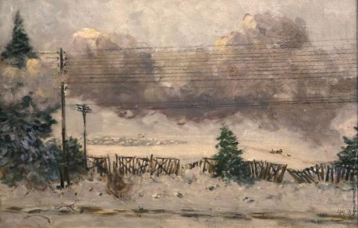 Герасимов А. М. Из окна вагона