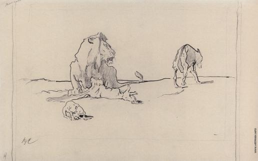 Серов В. А. Лев и волк