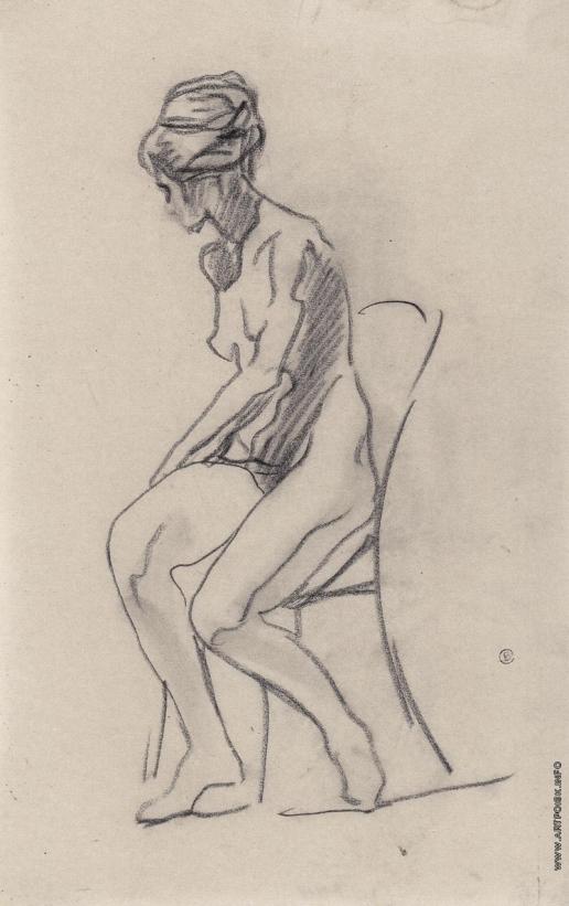 Серов В. А. Сидящая натурщица