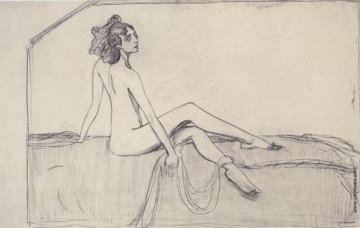 Серов В. А. Танцовщица Ида Рубинштейн. Эскиз портрета