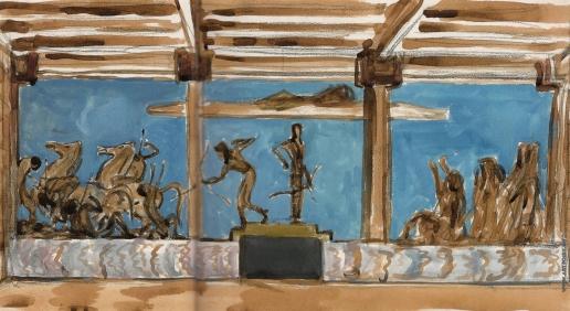 Серов В. А. Аполлон и Диана, избивающие детей Ниобеи